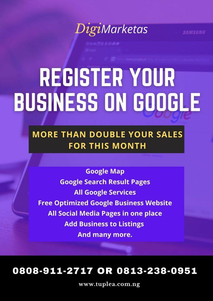 Google Business registration with digimarketas